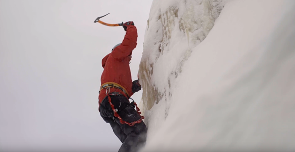 ice climbing the mountains
