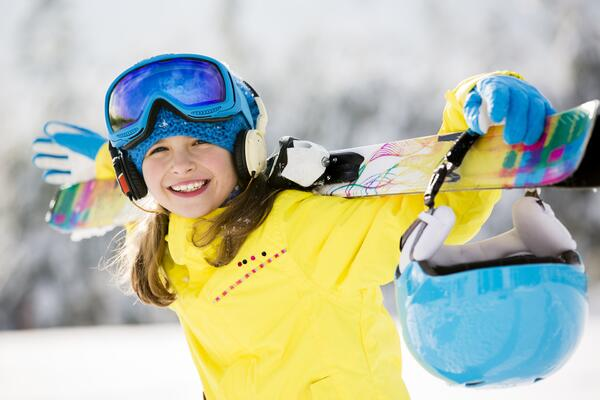 Girl Skier yellow large